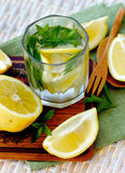 Lemon and Mint Beverage Stock Photos