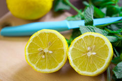 Lemon with mint Royalty Free Stock Photos