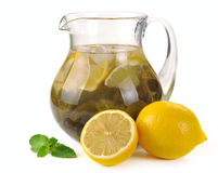 Lemon-mint drink Royalty Free Stock Image