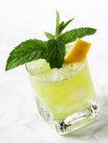 Lemon and mint drink Stock Photos