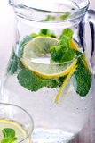 Lemon and mint fizz Royalty Free Stock Photos