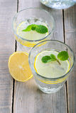 Lemon and mint fizz Stock Photography