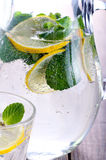 Lemon and mint fizz Royalty Free Stock Photography