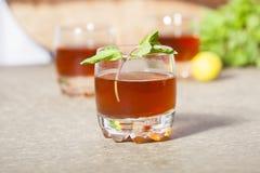 Lemon, Mint Flavour Ice Tea Stock Image