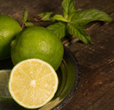 Lemon and mint. Royalty Free Stock Image
