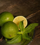 Lemon and mint. Royalty Free Stock Images