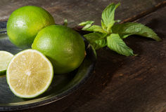 Lemon and mint. Royalty Free Stock Photography
