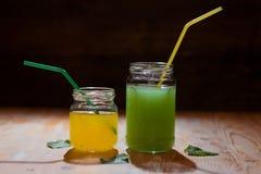 Lemon mint juice Royalty Free Stock Photo