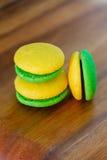 Lemon and mint marron cookies Stock Photo