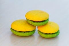 Lemon and mint marron cookies Stock Image