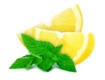 Lemon and mint Stock Photo