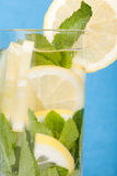 Lemon and mint in water Royalty Free Stock Image
