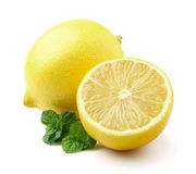 Lemon with mint Stock Photo