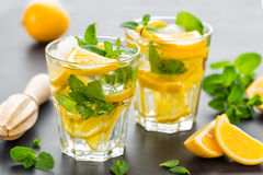 Lemon mojito cocktail with mint Royalty Free Stock Image