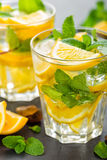 Lemon mojito cocktail with mint Royalty Free Stock Photo