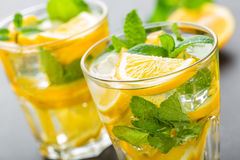 Lemon mojito cocktail with mint Royalty Free Stock Photography