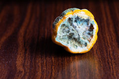 The lemon in the mold on the table. The lemon in the mold Royalty Free Stock Photos