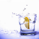 Lemon in motion royalty free stock photos