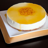 Lemon mousse. Delicious homemade lemon flavored mousse Royalty Free Stock Images