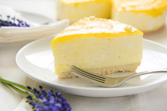 Lemon Mousse Cake Stock Image