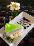 Lemon mousse cake Stock Photos