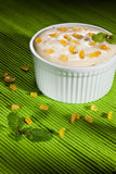 Lemon mousse with lemon candy Royalty Free Stock Photography