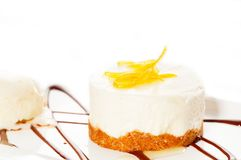3675719 lemon mousse served whith lemon peel on top royalty free stock photography