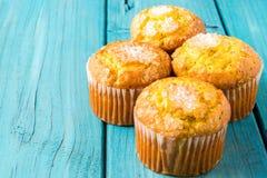 Lemon Muffin Stock Photography