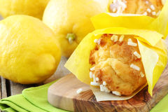 Lemon muffins Stock Photos