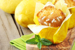 Lemon muffins Stock Photo
