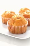 Lemon muffins in paper cases royalty free stock images