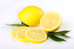 Lemon. Multiple lemon with fresh and delicious color isolated in white Royalty Free Stock Photos