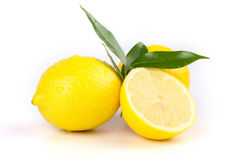 Lemon. Multiple lemon with fresh and delicious color isolated in white Royalty Free Stock Images