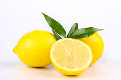 Lemon. Multiple lemon with fresh and delicious color isolated in white Stock Photo
