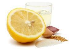 For the lemon-mustard sauce Stock Image