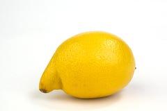 lemon odosobnione white fotografia stock