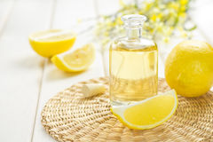 Lemon oil Royalty Free Stock Images