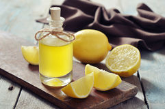 Lemon oil Royalty Free Stock Photography