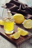 Lemon oil Royalty Free Stock Images