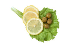 Lemon And Olives Royalty Free Stock Photography