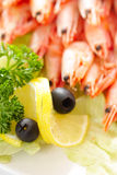 Lemon and olives Stock Image
