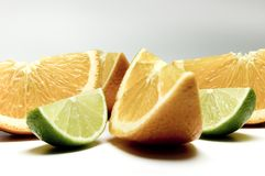 Lemon  and orange 7 Royalty Free Stock Photos