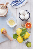 Lemon and Orange  Cake Stock Photography