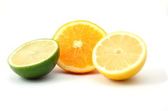Lemon orange and citron fruit Stock Images