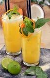 Lemon  orange cocktail. Royalty Free Stock Photos