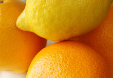 Lemon orange fruit set Royalty Free Stock Photo