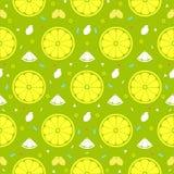 Lemon orange fruits seamless pattern background vector format Royalty Free Stock Image