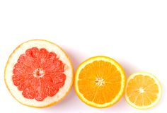 Lemon, orange and grapefruit Stock Image