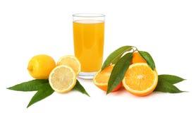 Lemon and orange juice Royalty Free Stock Images