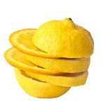 Lemon-orange mixed fruits Stock Images